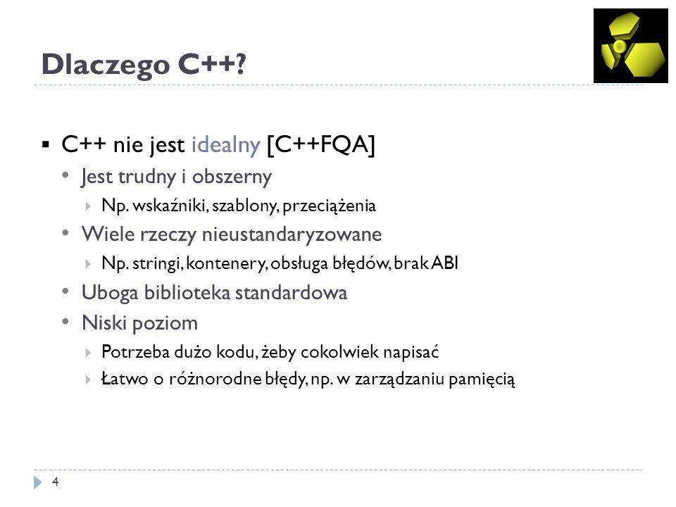 Dlaczego C++ C++ nie jest idealny [C++FQA] Jest trudny i obszerny